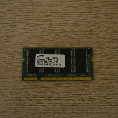 Оперативная память Samsung 256MB pc2700s-25331-a0 DDR 200-Pin 333Mhz CL2.5 Sodimm